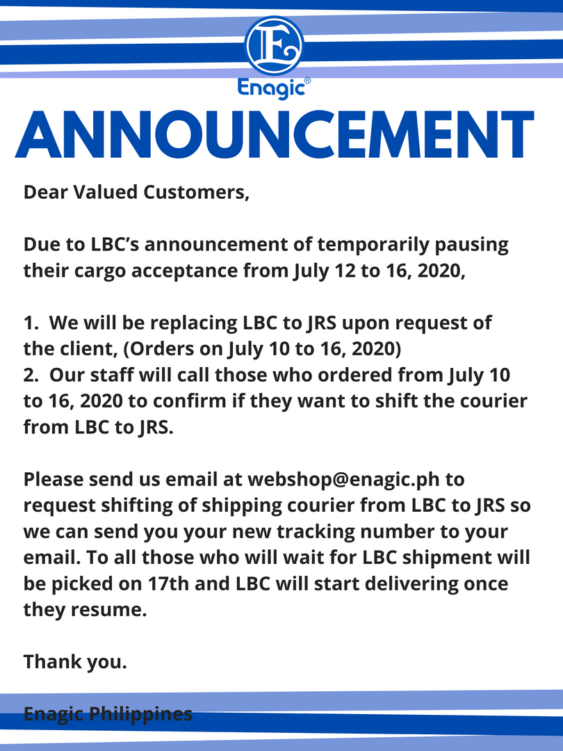 Promo Shipping Announcement