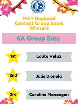 May Regional Contest Group Sales Winner