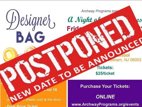 Designer Bag Bingo Fundraiser on March 13th: POSTPONED NEW DATE TBD
