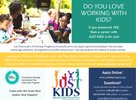 Before and After School Care Program Seeking Childcare Providers for the 2020-21 School Year