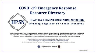 NJSP DMI COVID 19 RESOURCE GUIDE 042220.