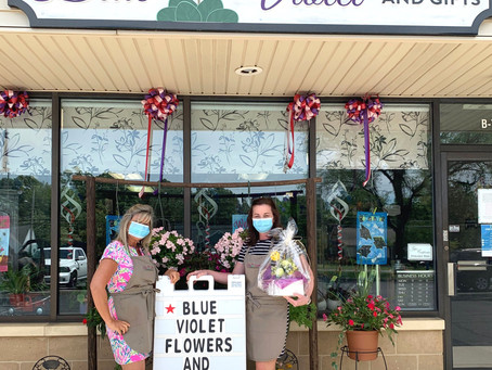 Blue Violet Flowers & Gifts Reopens Its Doors