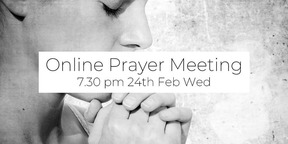 24 Feb Prayer Meeting (via Zoom)