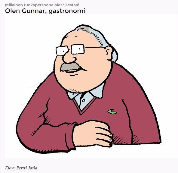 Eläinten hyvinvoinnista välittävä ruokapersoonani on lihaa ahmiva Gunnar?
