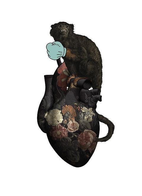 MONKEY HEART MINI PRINT
