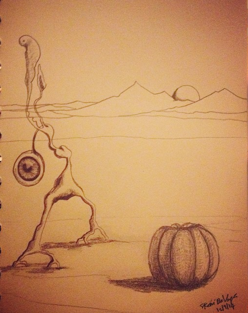 The hungry Eye and the pumpkin