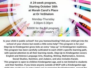 Step-Up to Kindergarten with Morah Carol