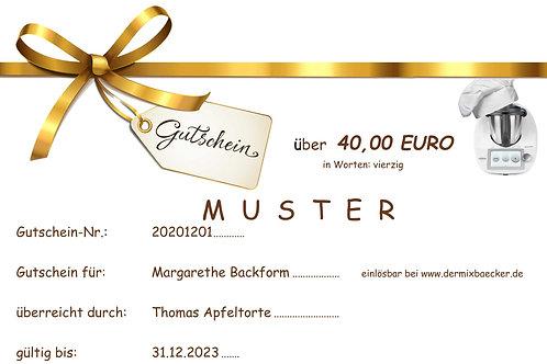 Geschenkgutschein 40,00 EURO