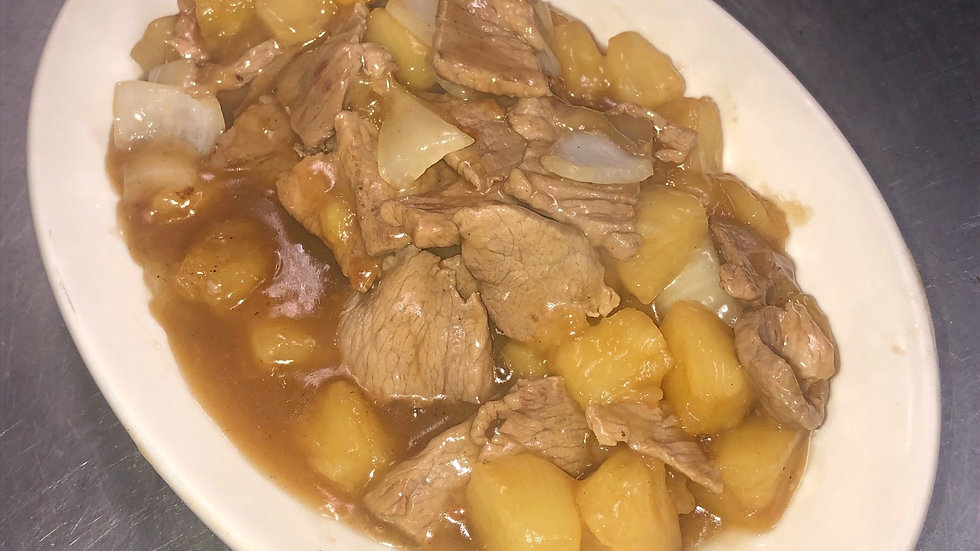 47. Pork with Pineapple & Onions