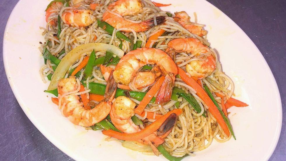 SN4. Singapore Noodles with Shrimp