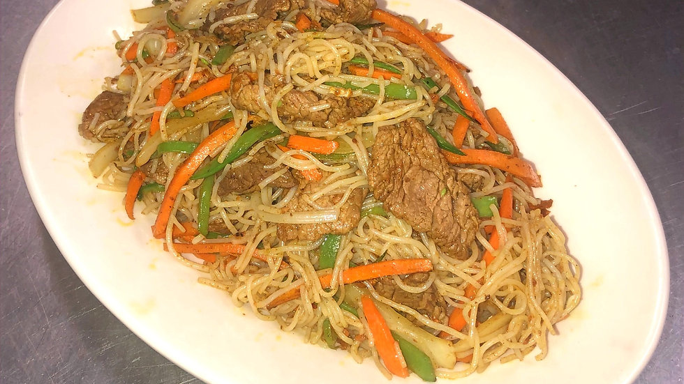 SN3. Singapore Noodles with Beef