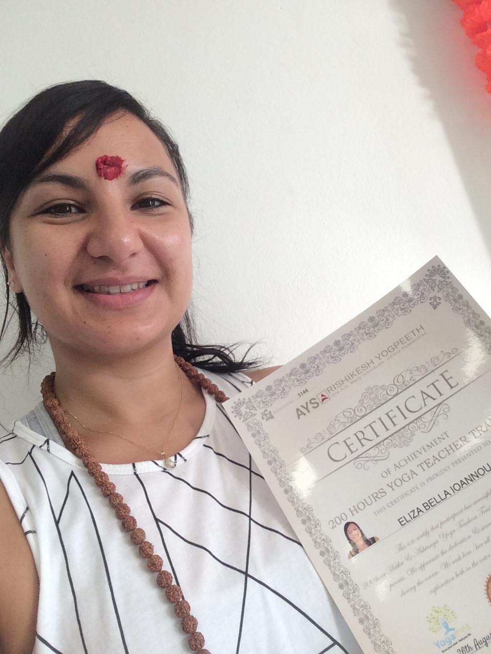 Vinyasa Yoga teacher training (2017)