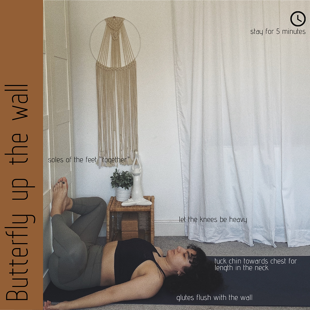 Butterfly up the wall - Yin Yoga
