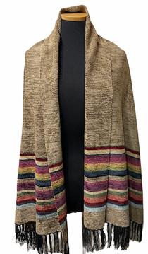 Bronze Border Stripe Shawl