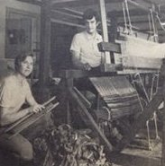 Diane & Fred and the old rug loom