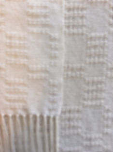 Table Scarf, Lace, natural, table top, cotton, woven, handmade, handwoven, weaving, made in USA