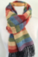 Handwoven, hand made, chenille scarves, rainbow, rainbow scarf, scarf, striped scarves, mens scarves, fall fashion, hand woven, weaving, woven, made in the us, soft scarf, rayon chenille
