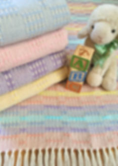 Woven, handwoven, cotton, natural, baby blanket, baby shower gift, pastel blanket, light weight blanket, made in USA