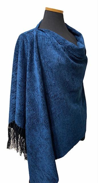 Solid Blue Poncho