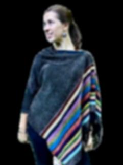 Kaleidoscope Chenille Poncho or Shawl