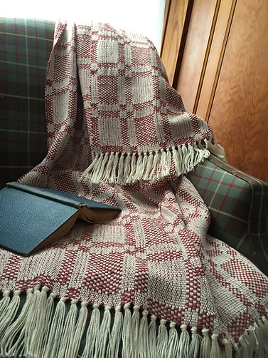 Market Square, natural, throw, blanket, cotton, woven, handmade, handwoven, weaving, made in USA