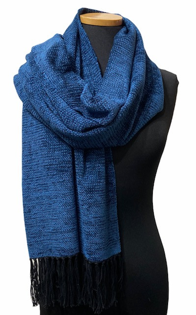 Solid Blue Shawl