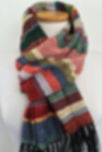 Handwoven, hand made, chenille scarves, scarf, striped scarves, mens scarves, fall fashion, hand woven, weaving, woven, made in the us, soft scarf, rayon chenille