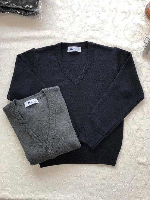 綿100%セーター/カーディガン