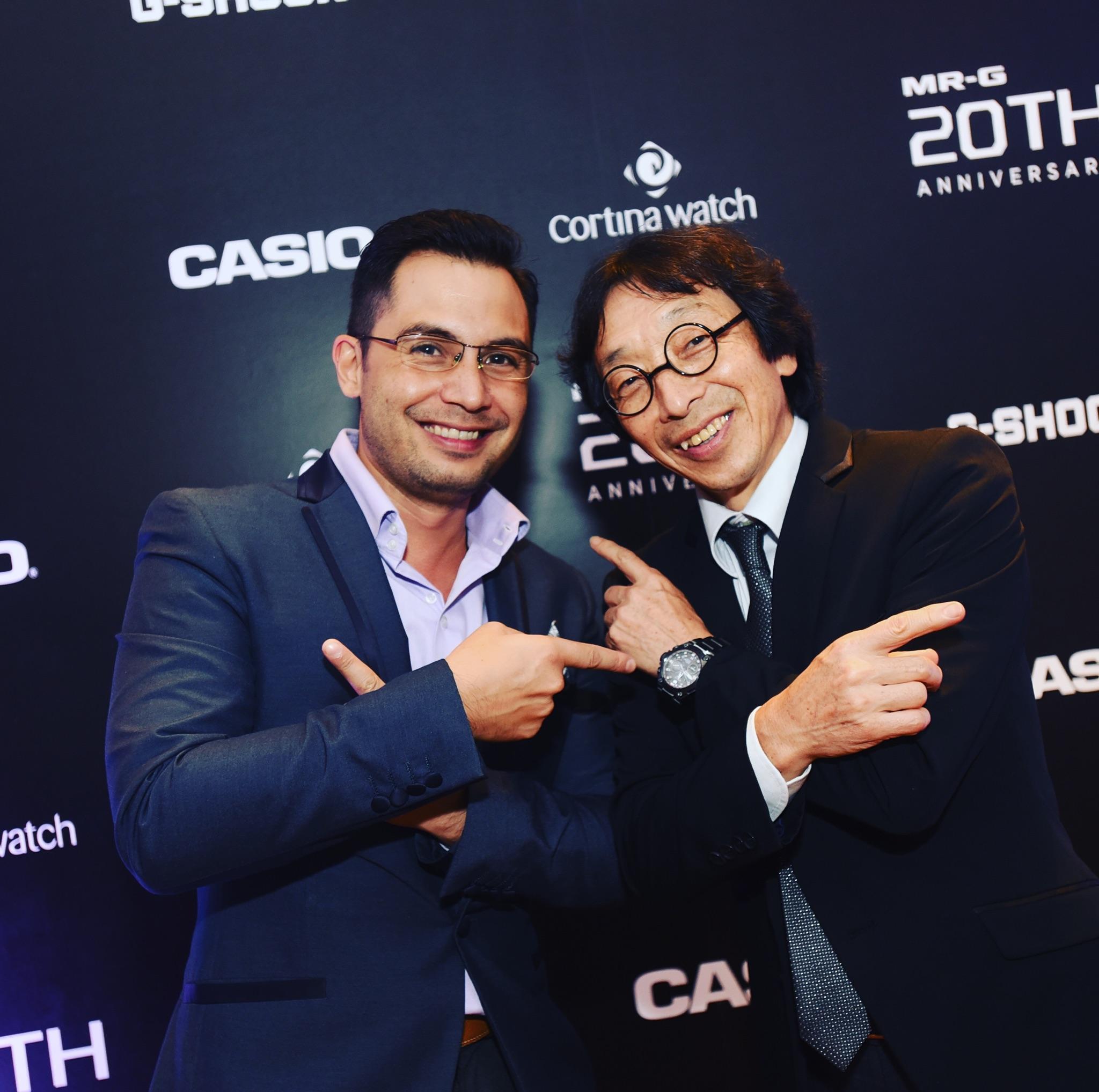 Keagan with Casio CEO