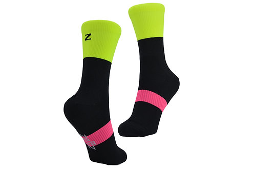 BOB THERMO SUB SOCK  BLACK/ NEON YELLOW