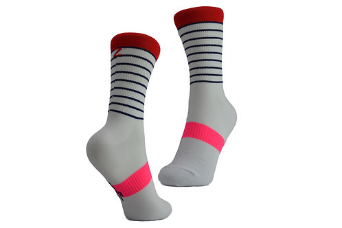 BRETON SOCK - WHITE/RED