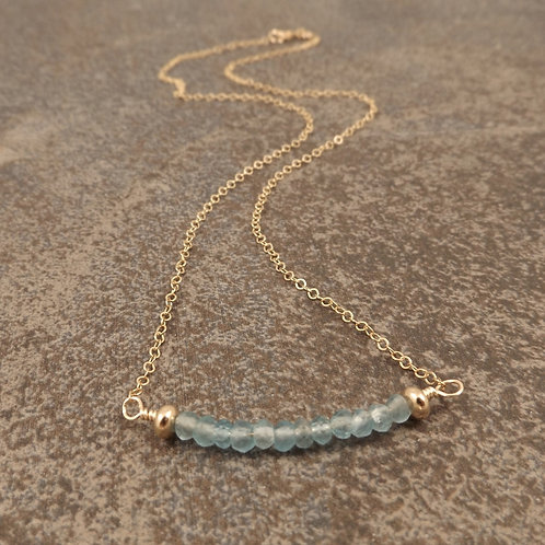 Apatite and Gold Necklace