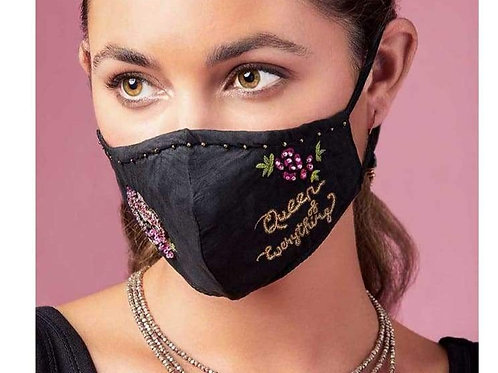 Queen of Everything Beaded Face Mask