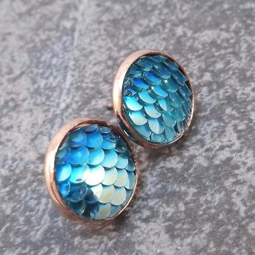 Mermaid Rose Gold Earrings