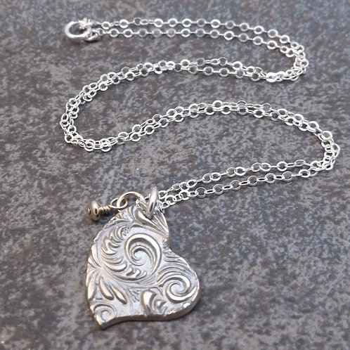 Solid bronze Heart Necklace