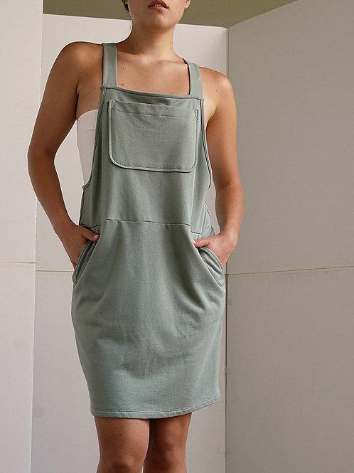 Hemp Overall mid length skirt