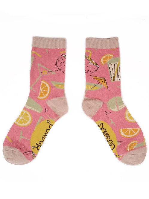 Cocktails Ankle Socks