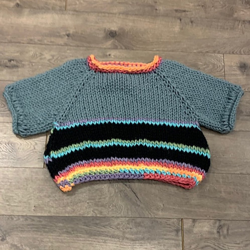 Handknit multi Stripe Sweater