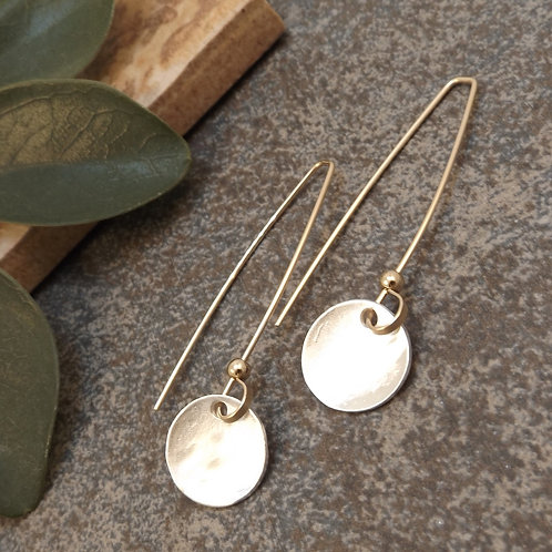 handcrafted double disc earrings