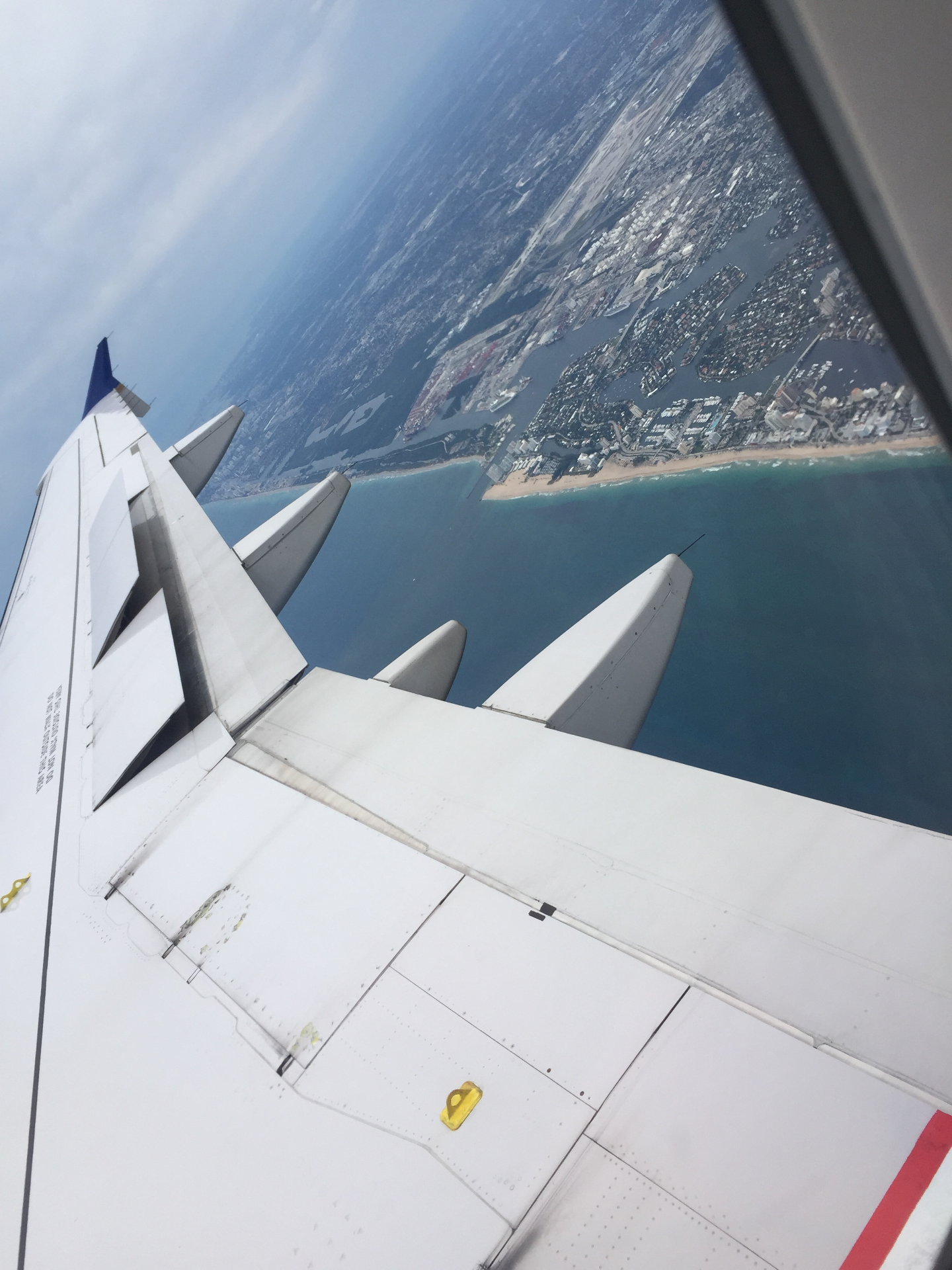 Circling to land in Ft. Lauderdale