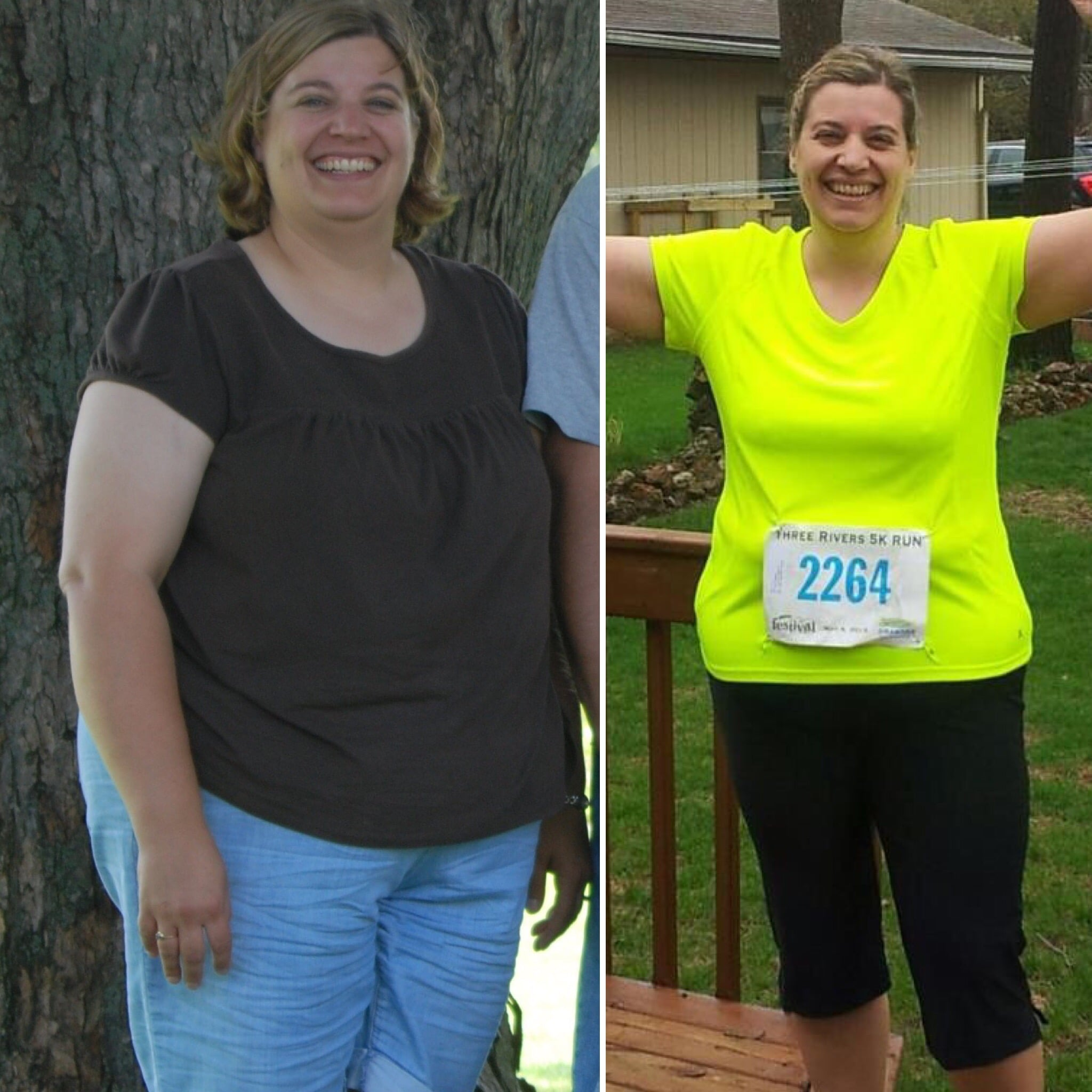 female weight loss on fitness journey