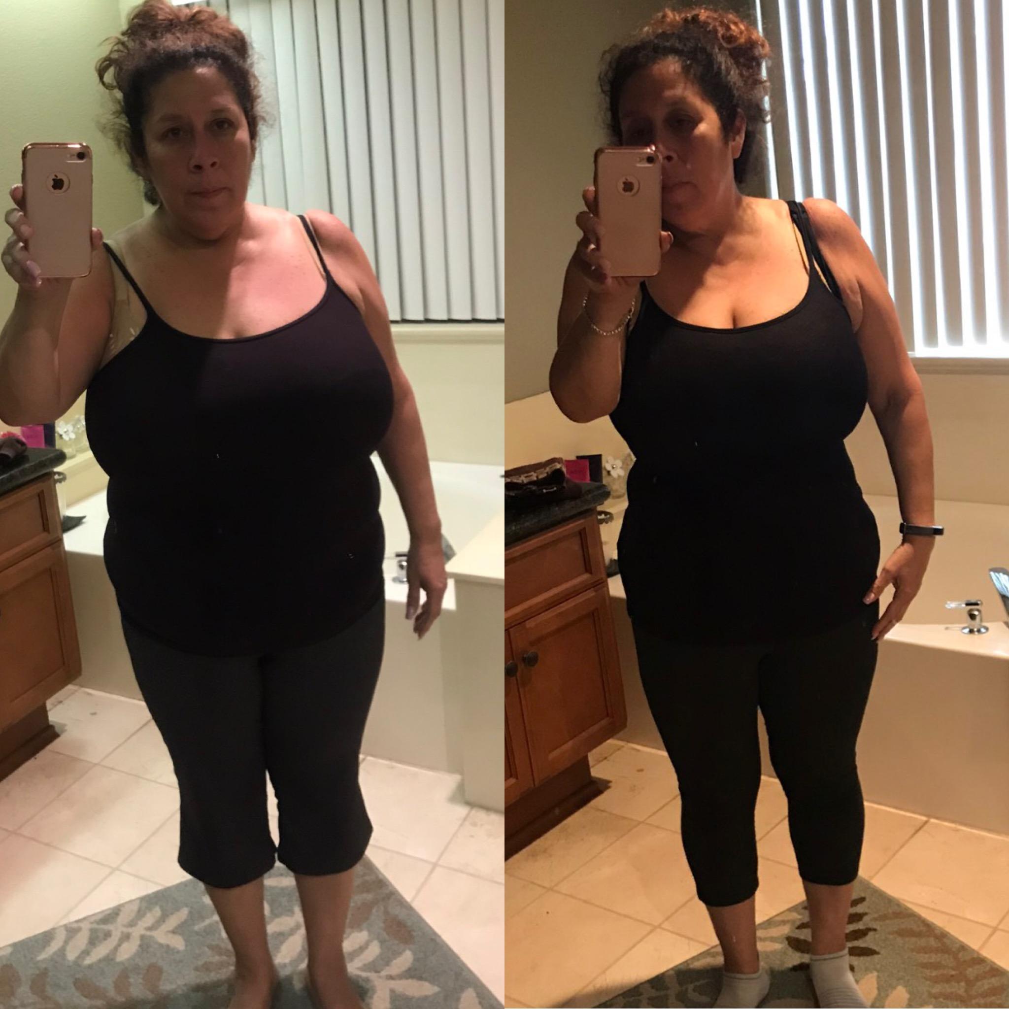 great female weight loss progress
