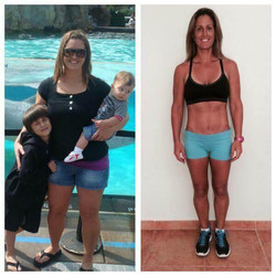 Lady with kids lost weight