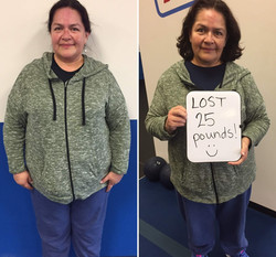 Lady lost 25 pounds in gym