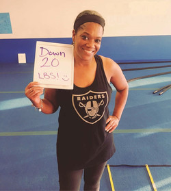 female lost 20 pounds
