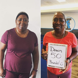 Lady lost 50 pounds in gym