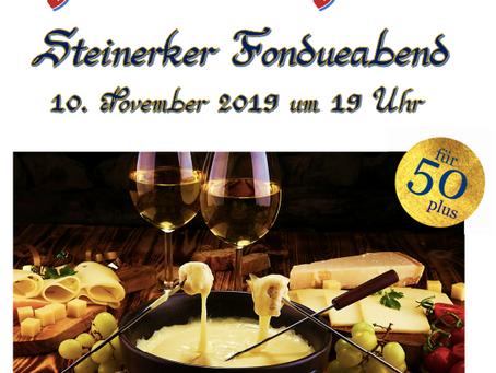 Steinerker Fondueabend am 10. November um 19:30 Uhr