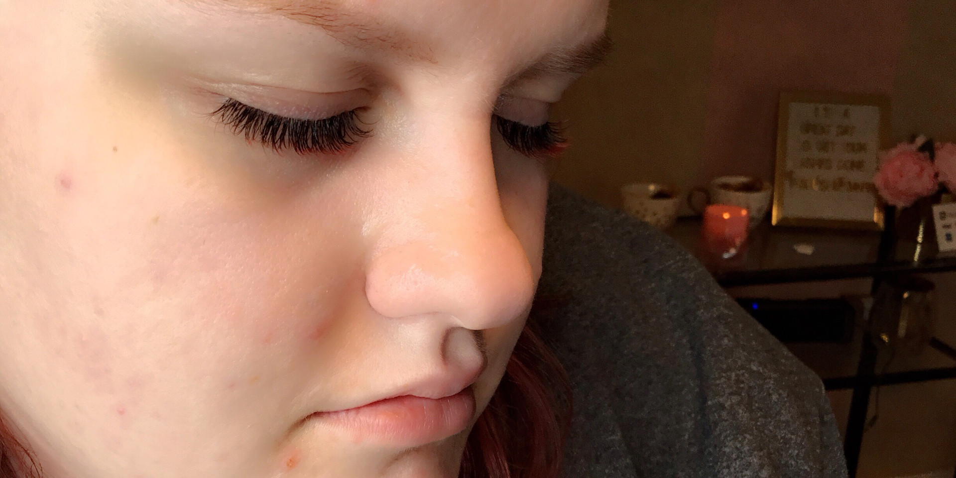 RED OMBRE LASHES 10MM