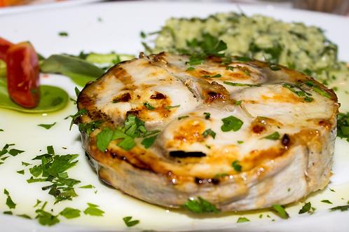 Pesce spada in salsa chimichurri