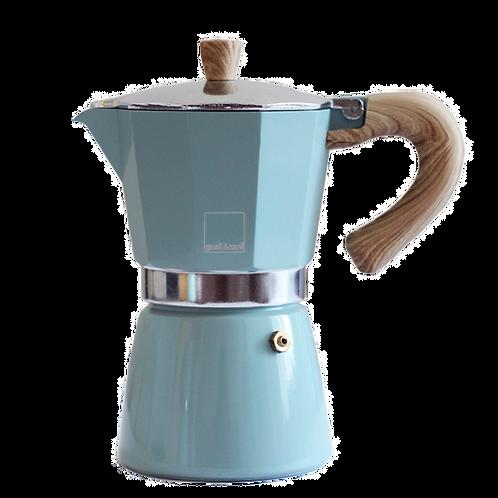 Гейзерная кофеварка Gnali&Zani VENEZIA / голубая на 6 порций
